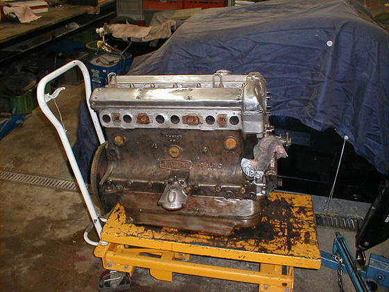 Straight six engine removed