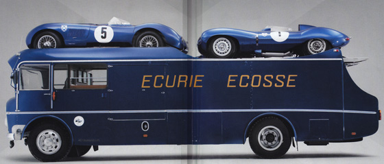 Beautifully restored Ecurie Ecosse Transporter